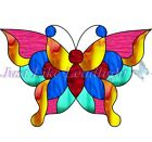 TRANSPARENT LEADLIGHT 3D BUTTERFLY #2, CUT or UNCUT PACK suncatcher Multicolour