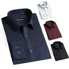 Luxury Men Shirts Formal Casual Evening Rockabilly Pageant Ball Tops Dress Shirt