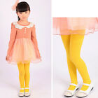 Unique Kids Toddlers Girls Candy Color Velvet Stockings Leggings Pantyhose 5-10Y