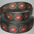 "GROSGRAIN MARINE CORPS 1"" INCH RIBBON FOR HAIR BOWS DIY CRAFTS"