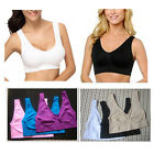 Womens Non Padded SPORTS BRAS Bra 6 Colors Leisure Crop Top Vest New Comfy Bra