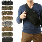 Men's Bags Canvas Outdoor Waist Pack Military Tactical Shoulder Bag Hiking Pouch