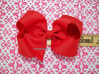 """Girls Extra Large Twisted Boutique Hair Bow. 6"""" wide.. U Pick Colors"""