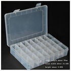 Adjustable Compartments Plastic Storage Box Jewel Case Container 10/15/24 Grids