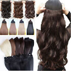 uk seller full colours clip in hair extensions one piece synthetic human favored