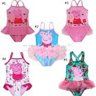 Girls Peppa Pig Kids Tutu Bikini Swimsuit Swimwear Swimming Costume Bathing 1-8Y