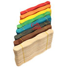 100 Colored Wavy Jumbo Wood Craft Sticks Wedding Fans PICK A COLOR!, used for sale  Nampa