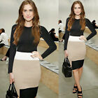 1 NEW Casual Office Wear Women Stretch Long Sleeve  Wiggle / Pencil Pinup Dress