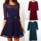 Sexy Womens Lace Rockabilly Pin Up Cocktail Party Mini Dress AU SELLER dr010