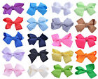 Bow Hair Clips Ribbon Alligator Grosgrain Slides Bow Girl Accessories SET OF 2