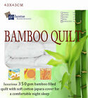 350GSM All Season 100% Bamboo Quilt Doona Cotton Cover Machine Washable