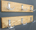8 sizes SOLID OAK WOODEN HAT AND & COAT HOOKS HANGING UTILITY PEGS RAIL RACK