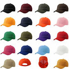 Baseball Cap Plain Blank  Adjustable Hat Solid Distressed One Size Polo Style
