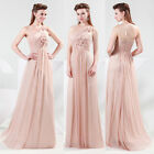 One Shoulder Bridesmaid Evening Wedding Prom Party Ballgown Cocktail Long Dress