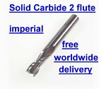 """solid carbide 2 flute imperial end mill slot drill endmill cutter 1/4"""" - 3/4"""""""