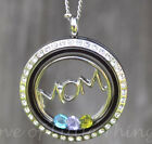 Mother Necklace Gift for Mom Jewelry Stainless Steel Floating Locket & Chain