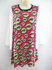 NEW LADIES LONG PINK MULTI PRINT TUNIC DRESS TOP PLUS SIZE 16 18 20 22-24 26-28