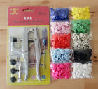 200 Sets KAM Size 20 T5 Resin Snaps Buttons w/ 1 Set Plier Kits For Cloth Diaper