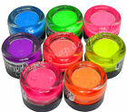 Janet Fluorescent UV Glow NEON Loose Eye Shadow Dust Powder Pigment Nail Art NEW