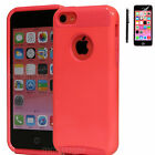 PC Shockproof Dirt Dust Proof Hard Matte Cover Case For iPhone 5C + Screen Film