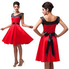 Red Sleeveless Bridesmaid Cocktail Evening Ball Gowns Party Pageant Proms Dress