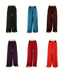 Solid Colored Palazzo Pant Wide Leg One Size Fits Most