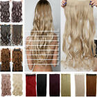 Uk Fashion New Straight/Curly/Wavy Clip In Hair Extensions Any Colour For Human
