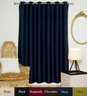 Wide Width Antique Brass Grommet Top Blackout Curtain 80 Inch by 96 Inch Panel