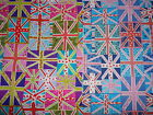 Funky Union Jack Flags & Hearts 100% Cotton Fabric Material BY THE METRE