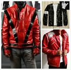 Michael Jackson Costume MJ Thriller/Beat it/Billie Jean Jacket Coat Free Glove