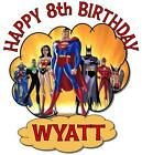 JUSTICE LEAGUE HEROES BIRTHDAY T-SHIRT Personalized AnyName/Age Toddler to Adult