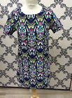 LADIES VERA LUCY ABSTRACT TUNIC DRESS OR LONGISH TOP SIZE S/M OR M/L £11.99 BNWT
