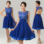 Lace Blue A Line Dresses Prom Bridesmaid Evening Party Cocktail Short Dress 8 12