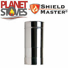 Stainless Steel Shieldmaster 250-350mm Adjustable Twin Wall Flue Pipe