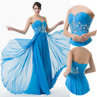 New Formal Chiffon Cocktail Prom Wedding Party Ball Gown Evening Long Dress 6~20