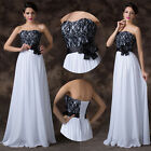 Houri Long Strapless Bridesmaid Ballgown Bridal Evening Prom Party Pageant Dress