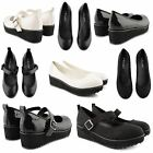 NEW LADIES CHUNKY LOW SHOES WOMENS CLEATED SOLE PLATFORM SLIP ON BALLET PUMPS