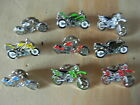 Motorcycle pin badges.Good assortment Sports Trials Scrambler Chopper Superbike