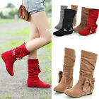 Fashion Women's Bowknot Ankle Boots Faux Suede Hidden Wedge School Girls Boots