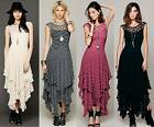 Sexy Vintage Party Evening Casual Prom Bodycon Maxi Slim Sheer Long Lace Dress