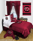South Carolina Gamecocks Bed in a Bag with Valance LR Twin Full Queen