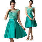 New Satin Lace Dress Evening Party Prom Cocktail Formal Bridesmaid Wedding Dress