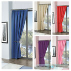 Childrens Plain Colour Dyed BlackOut Thermal Curtains Tape Top Pencil Pleat Kids