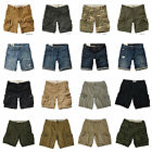 HOLLISTER MENS CARGO DENIM SHORTS NEW by Abercrombie SZ: 30,31,32,33,34,36