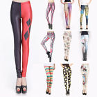Ladies Size 6 to 14 Full Length Printed Stretch Leggings UK STOCKIST 10 Styles