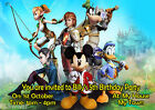KINGDOM HEARTS Personalised Birthday Party Invitations A6 + envelopes BOY MOUSE