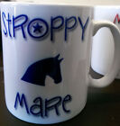 Funny Novelty Horse Sarcastic Moody or Stroppy Mare Mug In Different colours