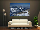 Wall Art Canvas Print Picture Beautiful Mountains, Snow-Unframed