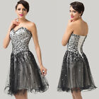 SEXY STRAPLESS Short Homecoming Club Cocktail Evening Prom Rock Party Dresses