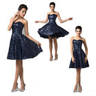 Chic Formal short Evening Ballgown Banquet Party Prom Bridesmaid Dress Size 6-20